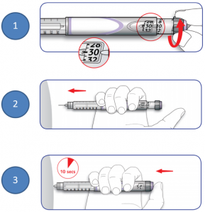 SoloSTAR Insulin Injection Procedure