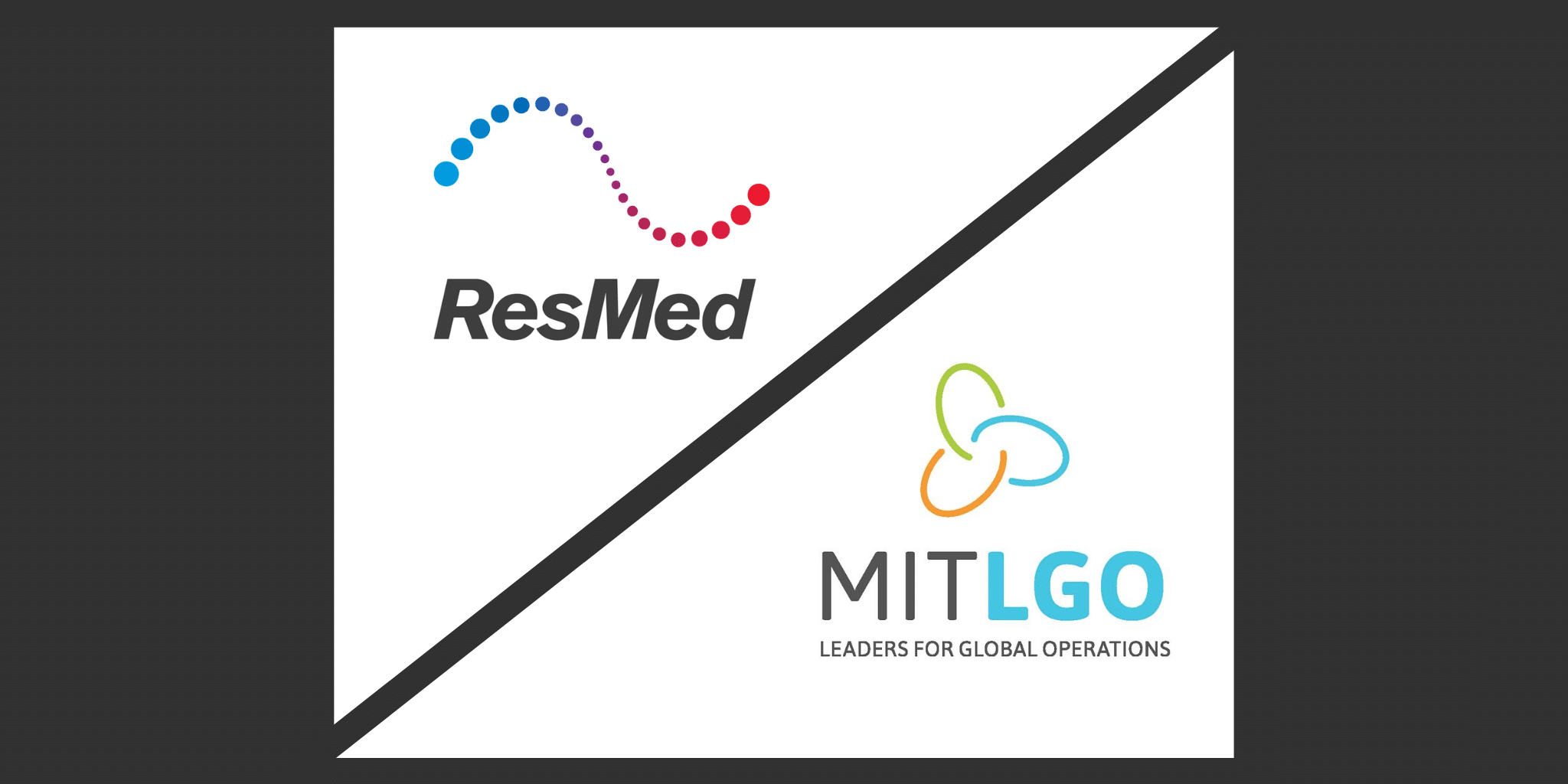 LGO and ResMed New Partner company announcement graphics