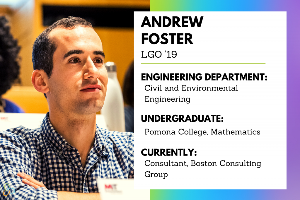 Pride month 2021 Blog graphic, Andrew Foster LGO '19