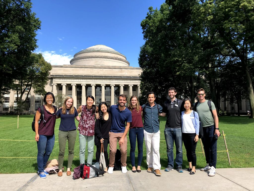 LGO '21 Group in front of MIT Dome, Julia Chen Graduation Graphic