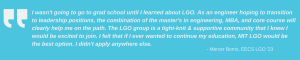 quotes for LGO '23 Profile Blog Summer 2021