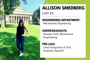 Allison Smedberg LGO 23 New Class Feature